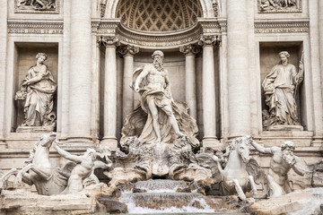Rome, Italy. The fountain of Trevi - one of symbols of Rome