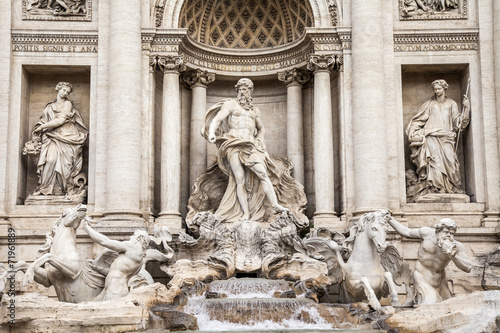 Fotobehang Rome Rome, Italy. The fountain of Trevi - one of symbols of Rome