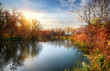 Autumn season on the river