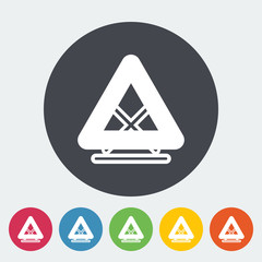 Warning triangle single icon.