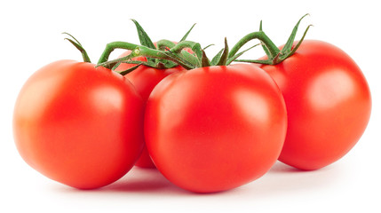 Bunch of ripe red tomatoes