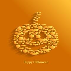 Halloween greeting background with pumpkin