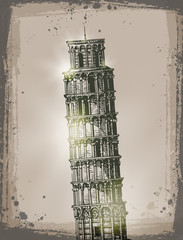 Leaning Tower of Pisa. Vector format