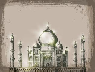 Taj Mahal. Vector format