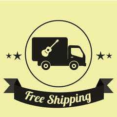 shipping illustration over yellow color background
