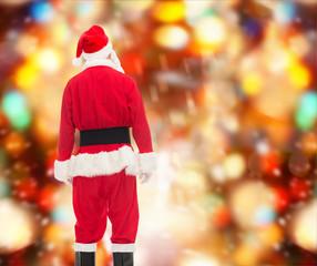 man in costume of santa claus