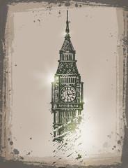 Big Ben. Vector format