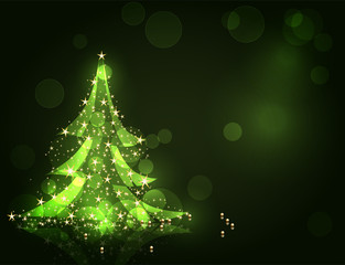 Christmas tree. Vector illustration for design