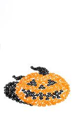 Pumpkin made up of many pumpkins