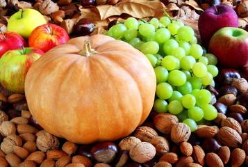 Zucca e frutta autunnale
