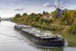 Freight ship on the Mittelland Canal in Hannover - 71965207