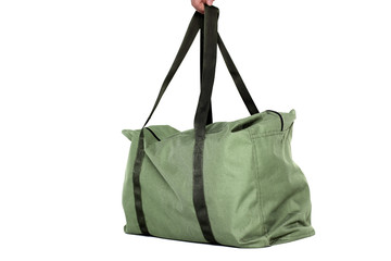 Green bag isolated over white background