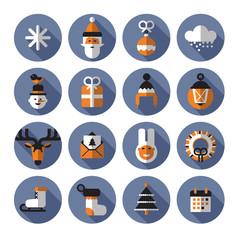 Xmas icons. Vector format