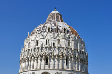Pisa Baptistry against blue sky