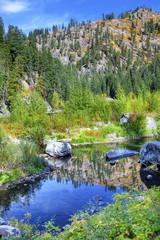Fall Reflection Wenatchee River Washington