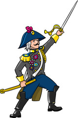 Brave general or officer with sword