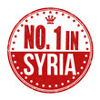 Number one in Syria stamp