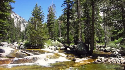 SequoiaNationalpark, Kaweah River im Tokopha Valley 3397
