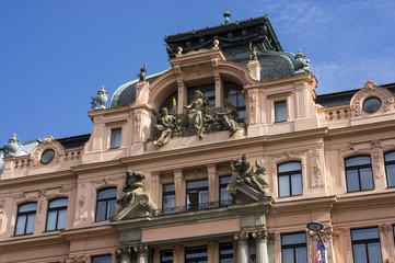 The building is Baroque in Prague