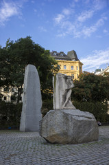 The Holocaust memorial in Vienna