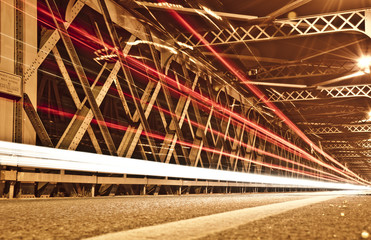 Light Trails on the Bridge, Cremona, Italy