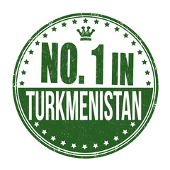 Number one in Turkmenistan stamp