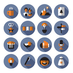 Icons set. Vector format