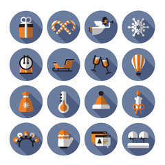 Holiday icons. Vector format