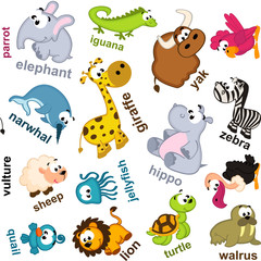 seamless pattern animals - vector illustration, eps