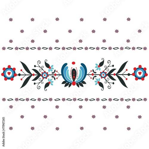 Kwiatowy wzór ludowy © bridzia2