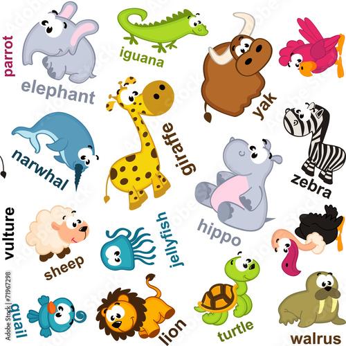 obraz PCV zwierząt bez szwu wzór - ilustracji wektorowych, EPS