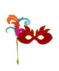Red carnaval masks