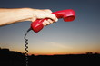 Mobile Phone hotline outdoors