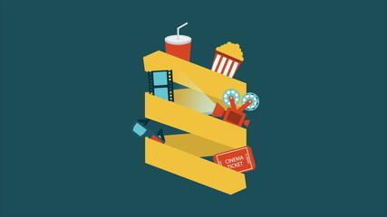 Cinema icons, Animation Design, HD 1080