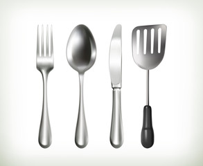 Flatware, vector objects