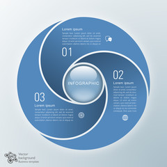 Infographics Vector Background 3-Step Process