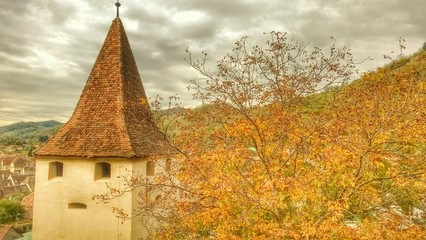 Biertan, fortifications church Transylvania