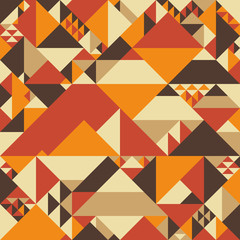 Vintage colorful seamless pattern with pyramids.