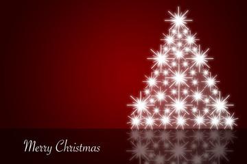 festliche Weihnachtskarte mit Textfeld, Illustration, Englisch