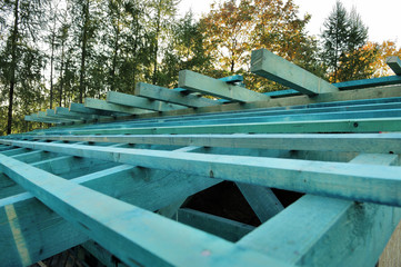 roof, wood, roof, construction, traditional, natural, skeleton,