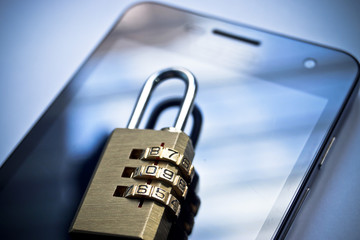 mobile security - smartphone data theft concept