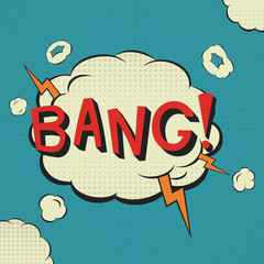 Bang. Comic speech bubble.