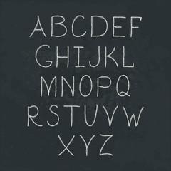 Handwritten Alphabet.
