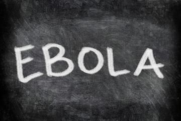 Ebola virus disease text on Blackboard