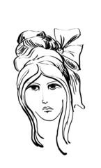Female head.