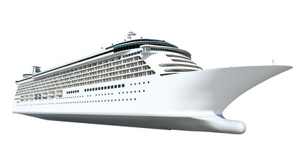 Contemporary Shiny White Cruise Ship