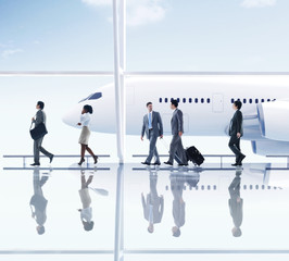 Business People Walking in the Airport