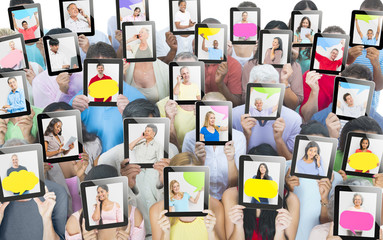 Group of People Holding Digital Devices