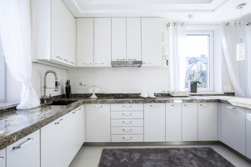 White and modern kitchen