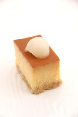 Pieces of a delicious custard cake